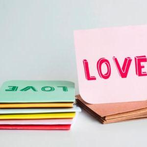 7pcs of Blank Mini Cards (Love Love..