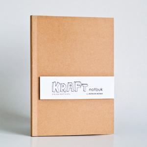 A5 size - Blank Kraft Paper Noteboo..