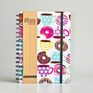 A5 Coffee & Donuts Fabric Wrapped N..