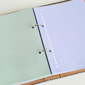 Blue Hearts Binder Folders with 2 r..