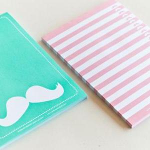 NOTEPAD SET OF 2 Moustache Tear Off..