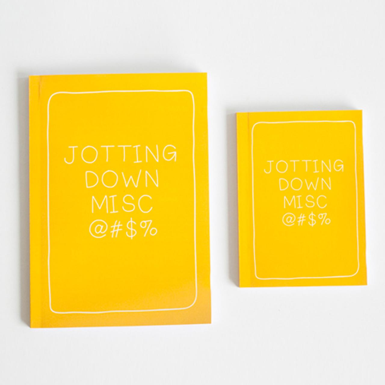 SET OF 2 - Jotting Down Misc Notebook
