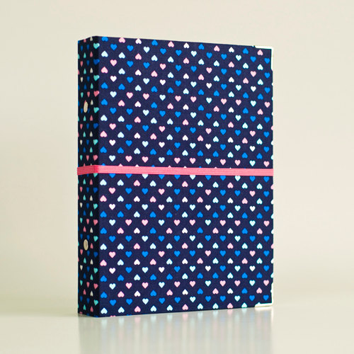 Blue Hearts Binder Folders with 2 refill packs