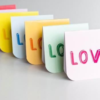 7pcs of Blank Mini Cards (Love Love Love)