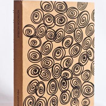 Mini Kraft Weekly Planner - Swirls Print