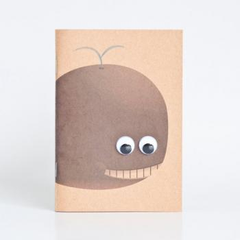 Animal Series Kraft Paper Booklets - Whale
