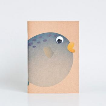 Animal Series Kraft Paper Booklets - Blowfish