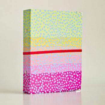 Neon Rainbows Binder Folders with 2 refill packs