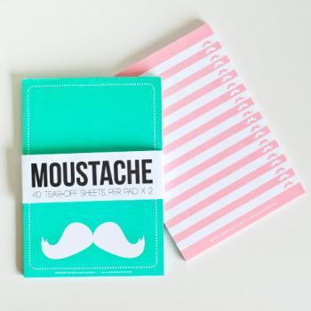 NOTEPAD SET OF 2 Moustache Tear Off (40 sheets x 2)
