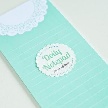 Doily Mint Notepad