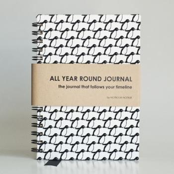 All Year Round Journal (unfilled dates / months / years) - Penguins
