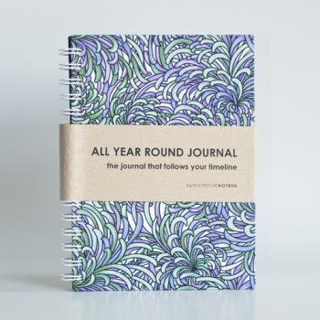 All Year Round Journal (unfilled dates / months / years) - Lavender Flowers