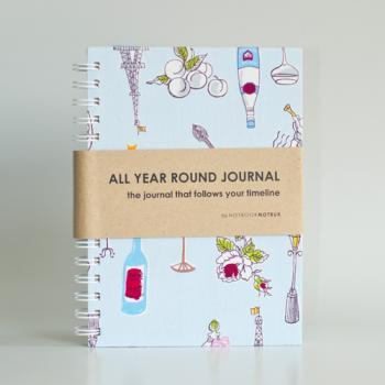 All Year Round Journal (unfilled dates / months / years) - Paris Party